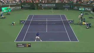 Rafael Nadal vs Roger Federer ATP Indian Wells 2013